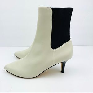 Joie Rali White Leather Ankle Booties